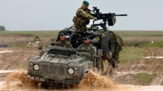 Army training exercise on Salisbury Plain