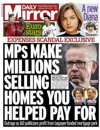 Daily Mirror Wednesday