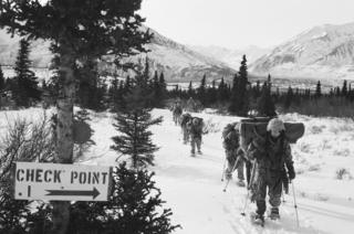Long Range Surveillance patrol arrives at Check Point 1