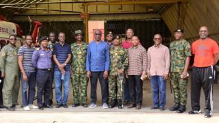 Mele Kyari vist Nigeria Navy base for Ojo