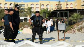 Police in Sousse, 27 June