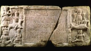 The Summerston distance stone from the Antonine Wall, which was found near Bearsden, was one artefact successfully tested for pigment