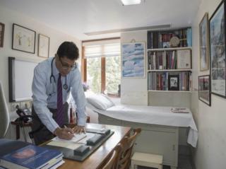 Dr Zarir Udwadia at his clinic