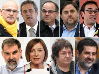 Дев'ять лідерів Каталонського руху за від'єднання від Іспанії тепер проведуть роки за ґратами