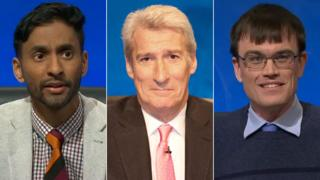 Bobby Seagull, Jeremy Paxman and Eric Monkman