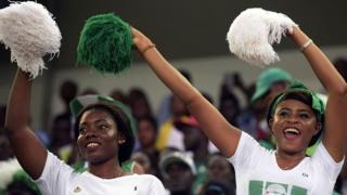 Des cheerleaders nigérianes.