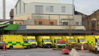 Ambulances outside Morriston Hospital