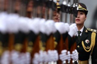 A Chinese People's Liberation Army soldier in Beijing