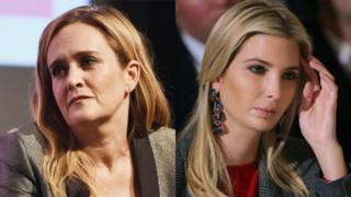 Composite image of Samantha Bee (left) and Ivanka Trump