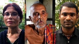 (L-R) Suchandra Goswami, Chandradhar Das and Ajit Das