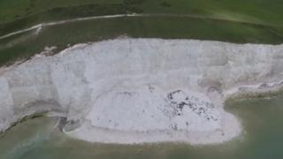 Collapsed cliff