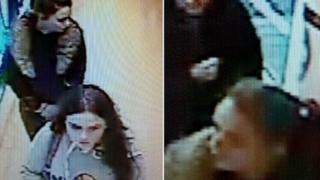 The girls on CCTV in Superdrug in Ely