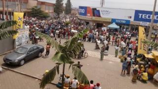 Umupaka wa 'petite barrière' ku Gisenyi