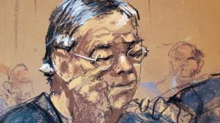 法庭掃描畫家筆下在庭上拭淚的何志平(25/3/2019)