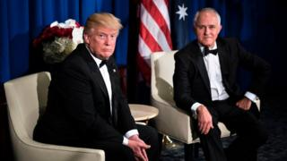 US President Donald Trump and Australian Prime Minister Malcolm Turnbull in New York in May