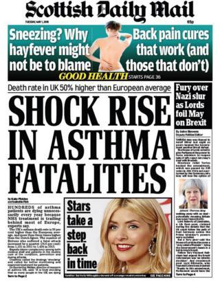 The Scottish Daily Mail