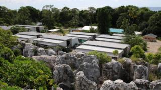 Refugee centre on the Pacific island of Nauru on September 2, 2018