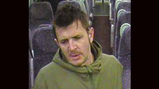 CCTV picture of man on train