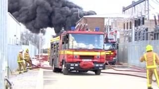Humberside fire and rescue in action