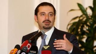 """Dans ses interventions à Beyrouth, M. Hariri n'a pas évoqué les accusations du président Michel Aoun selon lesquelles il avait été """"retenu en otage"""" en Arabie saoudite."""