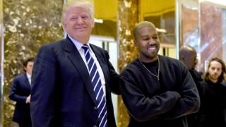 Donald Trump and Kanye West at Trump Tower in New York City in December 2016.