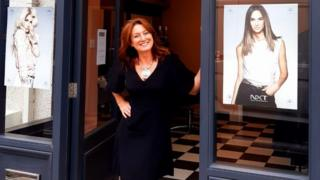 Anne-Marie Harben at her new salon