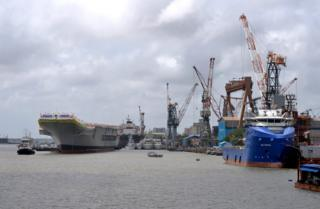 A view of the Cochin Shipyard