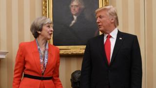 PM May - Presiden Trump
