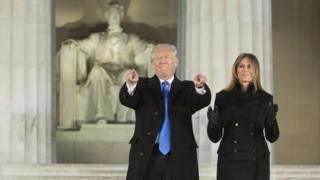 Donald Trump e sua mulher, Melina Trump