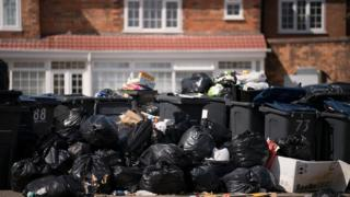 Bins overflowing in Alum Rock