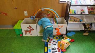 Playing in the Wee Wagon