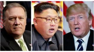 Возможные будущие участники саммита - глава ЦРУ Майк Помпео, Ким Чен Ын и Дональд Трамп