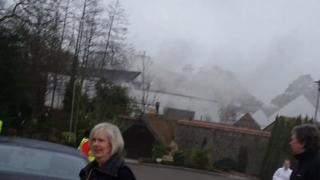 The fire at the Galgorm Resort and Spa began shortly after 09:00 BST