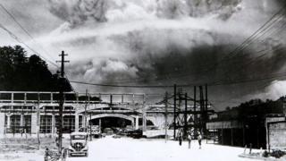 Foto de la explosión de la bomba atómica en Nagasaki, el 9 de agosto de 1945.