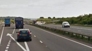 A34 southbound at Chieveley