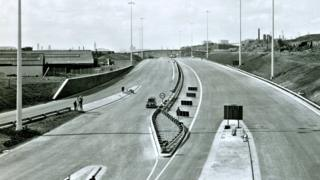 West along the M8 from Baird Street Bridge (April 1968)