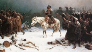 Adolph Northen's painting 'Napoleon's Retreat from Moscow'