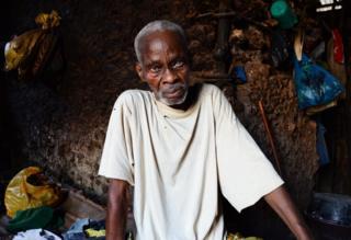 An elderly man.