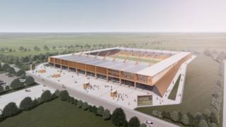 Artist's impression of Cambridge United's new stadium