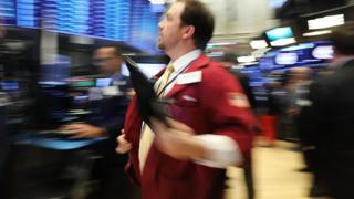 Trader on the New York Stock Exchange floor