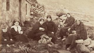 in_pictures Women and children on St Kilda