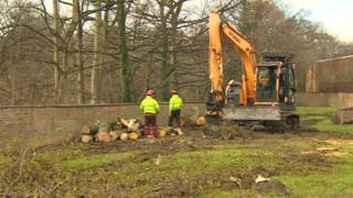 Work on the River Derwent