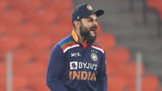 India T20 captain Virat Kohli celebrates