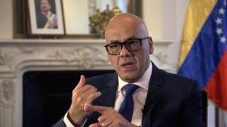 Jorge Rodríguez, ministro para la Comunicación e Información de Venezuela