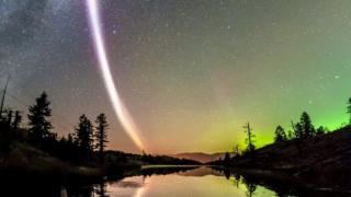 Luz divisada en Canadá