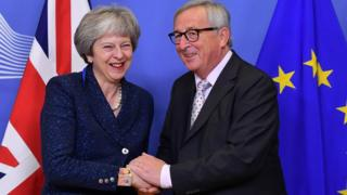 May and Juncker in Brussels