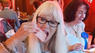 Carole Cleveland eating spam