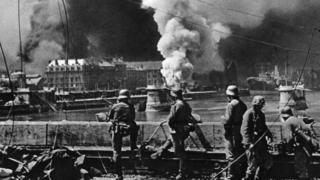 Роттердам во время германского штурма