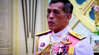 Thai Crown Prince Maha Vajiralongkorn during his accession ceremony