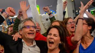 German Greens celebrate